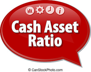 Cash Asset Ratio blank business diagram illustration - Blank...