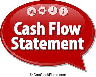Cash Flow Statement blank business diagram illustration -...
