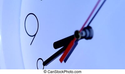 round office clock close up. close up of an office clock....