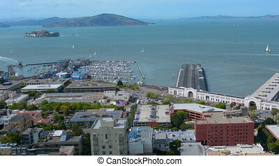 Panoramic view of San Francisco bay, San Francisco...