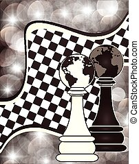 Chess abstract background, vector illustration