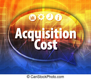 Acquisition Cost Business term speech bubble illustration -...