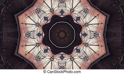 Abstract Fantasy Kaleidoscopic Looping Motion Background...