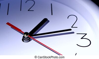 Vector white office clock on white background. time concept...