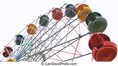 Vintage Ferris Wheel - Colorful vintage Ferris wheel...