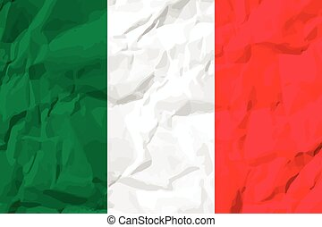 Italy Flag Vector colorful illustration on white