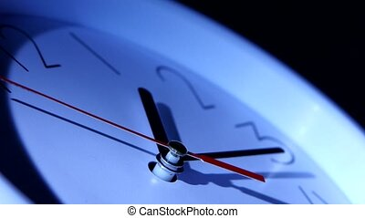 isolated office clock on white background