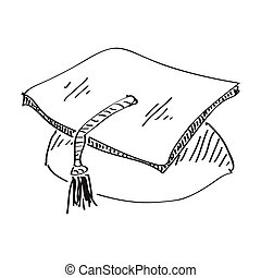 Simple doodle of a mortar - Simple hand drawn doodle of a...