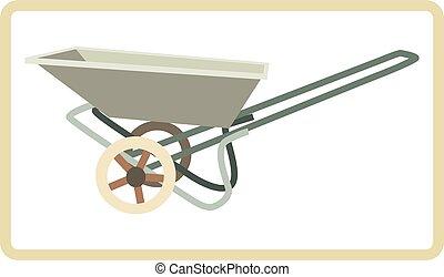Cart mortar - Vector illustration of cart mortar