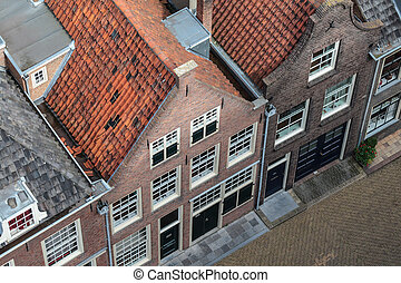 Old historic houses in the Dutch town Delft