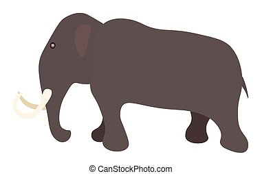 Mammoth - Vector illustration of mammoth