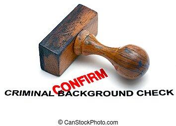 Criminal background form - confirm