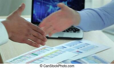 Modern business handshake