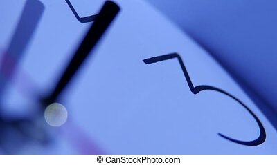 clock in a classic style, close-up - Dial office wall clock...