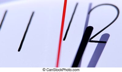 Dial of analog hours. A photo close up. time concept...