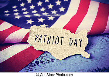 flag of the United States and the text Patriot Day,...