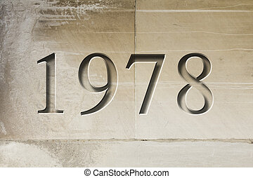 Engraved Historical Year 1978 - Historical year engraving...