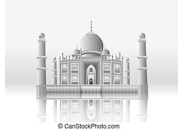 Taj Mahal from vector