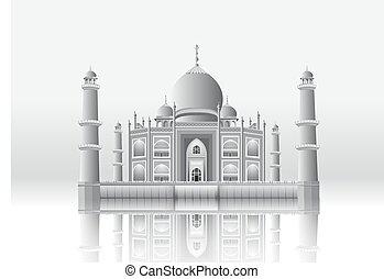 Taj Mahal from vector