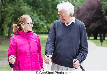 Active senior married couple - Image of active senior...