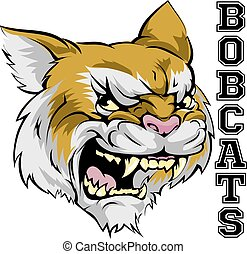 Bobcats Mascot - An illustration of a cartoon bobcat sports...