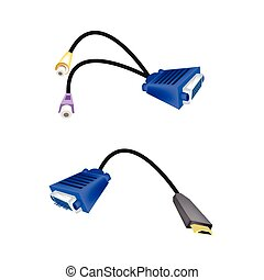 DVI Digital Video Interface or VGA to RCA Cables