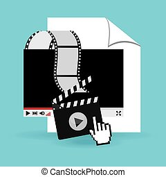 media player design, vector illustration eps10 graphic