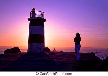 Lighthouse - Beautiful landscape picture of a lighthouse and...