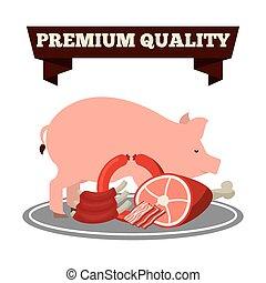 butchery shop - butchery product design, vector illustration...