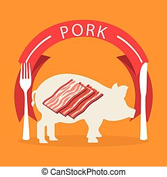 butchery shop - butchery product design, vector illustration...