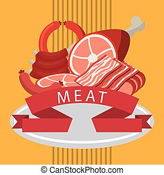 butchery shop design, vector illustration eps10 graphic