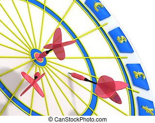 Business Darts on a white background.