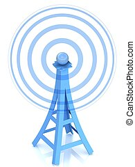 3d communication antenna tower