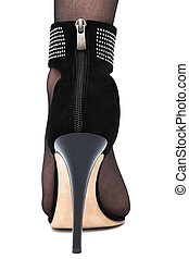 high-heeled shoe - female foot in high-heeled shoe