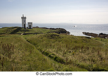Elie Lighthouse in Fife Scotland on a suny day