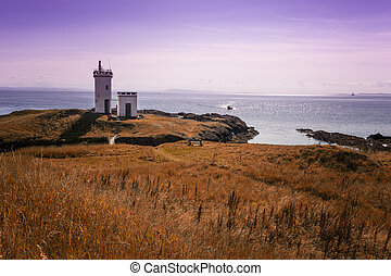 Dramatic view of Elie lighthouse - Elie Lighthouse in Fife...