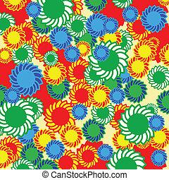 Hippie floral background
