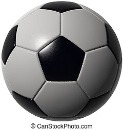 Soccer ball isolated with stunning details