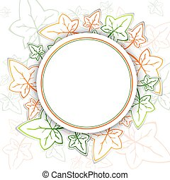Ivy Round Frame - Abstract Ivy Round Frame With Copyspace