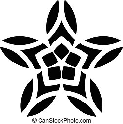 Ornaments Mandala Floral Silhouett - great illustration of...