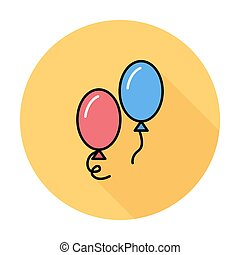 Ballon icon. Flat vector related icon for web and mobile...