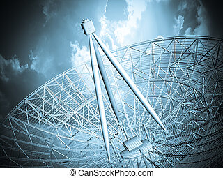 Satellite dish background. Communication antenna.