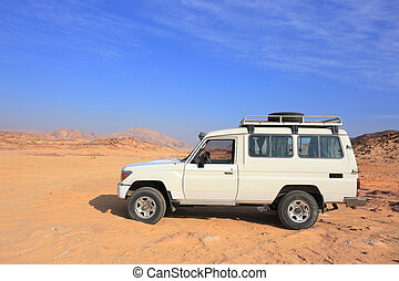 Safari Jeep in the desert in Egypt