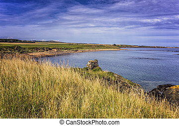 Elie Coastline in the Kingdom of Fife, Scotland