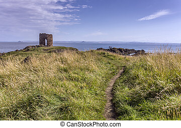 Old castle in Elie Scotland - Shot of an old castle in Elie...