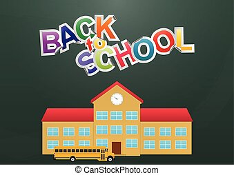 back to school - illustration of back to school text with...
