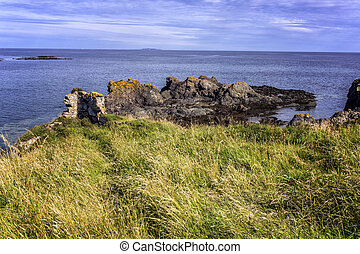 Dramatic rocky coastline - Shot of a dramatic rocky...