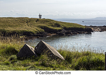 Elie lighthouse on the Elie coastling in Fife Scotland