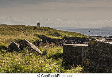 Elie Coastline - Large stones at Elie Coastline, Fife...