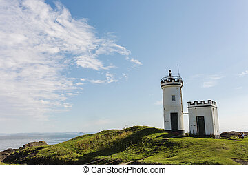 Elie Lighthouse on a sunny day in Fife Scotland